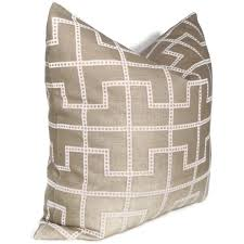 celerie kemble bleecker taupe trellis pillow cover 18x18