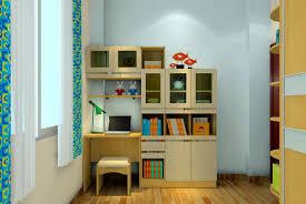 Desk And Bookshelf Combo 3d Bedroom Bookcase Desk Combo 3d House