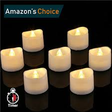 led tea lights with timer homemory led timer tea lights with warm white flickering