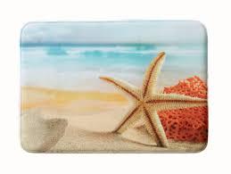 Nautical Bath Mat Home Fashion Designs Eliza Plush Memory Foam Anti Fatigue Coastal