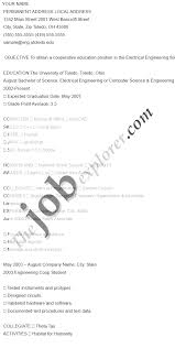 Technical Resume Objective Resume Objective For Electrician