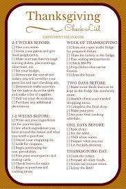 thanksgiving checklist easy event ideas