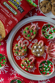 chocolate chip cookie ornaments