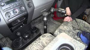 installation of the deezee ram vehicle laptop stand on a 2007 ford
