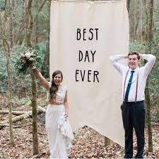 wedding backdrop sign large pennant banner sign best day wedding backdrop