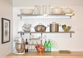 wall mounted metal kitchen shelving