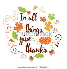inspirational thanksgiving day quote orange stock vector