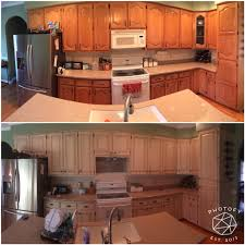 Rustoleum For Kitchen Cabinets Before And After Rustoleum Cabinet Transformation Pure White W