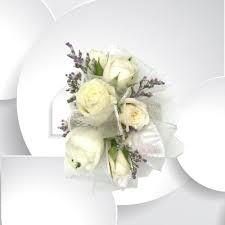 white wrist corsage white delight wrist corsage milwaukie florist milwaukie floral