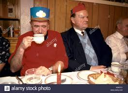 christmas in blackpool elderly guests wear christmas paper hats