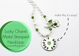 necklace charm diy images Diy lucky charm metal stamped necklace i can make metal stamped jpg