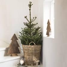 rattan christmas tree basket