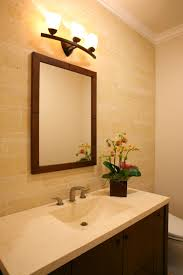 Bright Color Setting Bathroom Simple Wooden Vanity With Mounted Sink And Marble Top