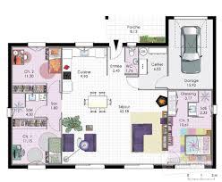 plan maison plain pied en l 4 chambres maison plain pied jura