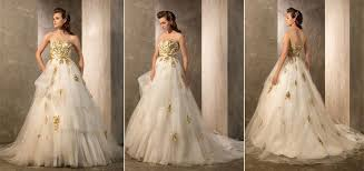 gold wedding gown wedding dresses with gold accents wedding dress shops