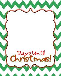 christmas days tilltmas calendar printabledays number of