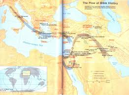 flow of bible history from creation to the apostle paul u2013 map
