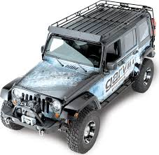 lowered 4 door jeep wrangler garvin 44074 wilderness expedition rack for 07 17 jeep wrangler