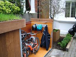 placing outdoor bike storage shed in garden landscape home outdoor bike storage shed diy inspiration