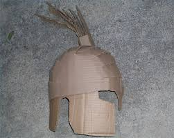 how to make a spartan helmet out of cardboard how to