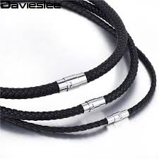 braided leather necklace images Braided leather necklace for men splashbuy jpg