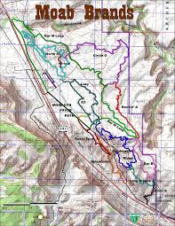 Virginia Capital Trail Map by Moab Mountain Biking Trails Moab Mountain Bike Trail Information