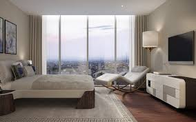 a living room in one of the top floor apartments inside the
