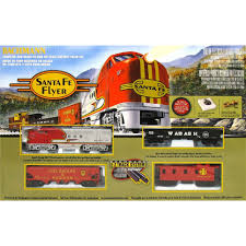 bachmann trains santa fe flyer ready to run ho scale set