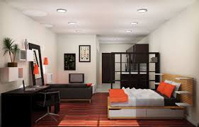 interior lovely studio apartment decoration light cream walls