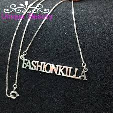Gold Personalized Name Necklaces Aliexpress Com Buy Wholesale Name Necklace Gold Plate Solid