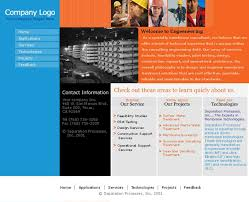 expression web website templates for engineering industry