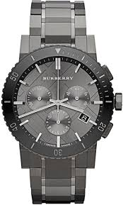burberry black friday sale amazon com burberry chronograph gunmetal dial grey ion plated