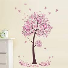 Butterfly Kids Room by Pink Butterfly Tree Flowers Vinyl Wall Sticker Decal Diy Nursery