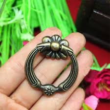 Brass Ring Pulls Cabinet Hardware by Antique Cabinet Hardware Pull Ring Knob Handle Pull 32mm 42mm In