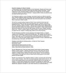 sample executive reports executive summary resume example high