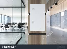 concrete loft office lobby gray floor stock illustration 692108533