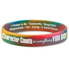 bracelet silicone images Character counts in everything you do 2 sided silicone bracelet jpg