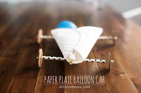 paper plate balloon car u2014 all for the boys