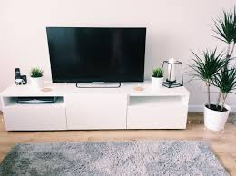 my new living room minimal look plants besta tv unit and cork