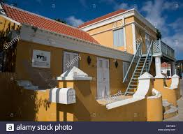 dutch colonial architecture dutch colonial architecture oranjestad aruba stock photo royalty