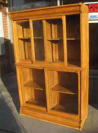 antique oak bookcase with glass doors furniture unique barrister bookcase design fascinating