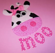 fabric applique template pattern only cow and moo by etsykim