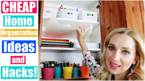 cheap home organization ideas u0026 hacks for kids arts u0026 crafts