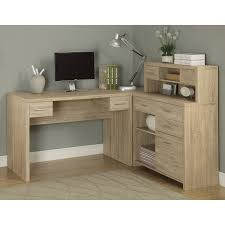 I Shaped Desk by Monarch Reclaimed Look L Shaped Home Office Desk Walmart Com