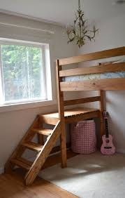 Bed Frame Design Photos Ana White Camp Loft Bed With Stair Junior Height Diy Projects