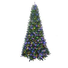christmas tree home accents 7 ft to 10 ft led pre lit adjustable rising