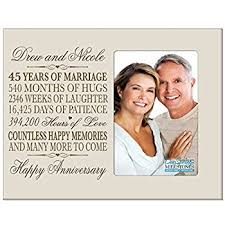 45th wedding anniversary personalized 45th year wedding anniversary frame gift