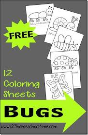 preschool coloring pages bugs 12 free bug coloring sheets spring summer spring and kindergarten age