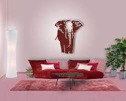 Wohnzimmer Deko Pink Elefanten Deko Für Ihre Moderne Wohnzimmerwand