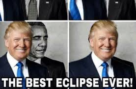 trump shares eclipse meme of him blocking out obama aol news